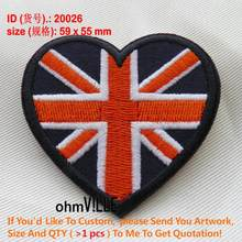 Bandiera Toppe E Stemmi Uk Amorevole Cuore Patch di Ferro Sulla Bandiera Patch di 200 Bandiere di Paesi Militare Su Ordinazione di Applique del Commercio All'ingrosso Ricamato 20026(China)