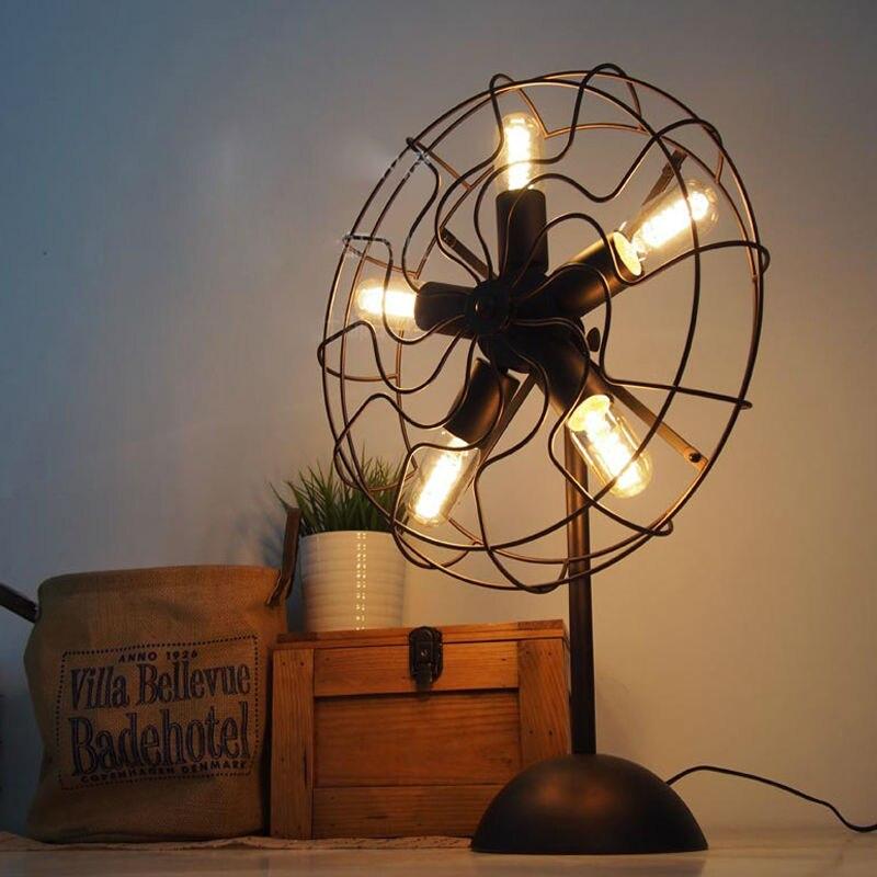 Vintage RH Loft Industrial Edison Electric Fan Metal Table ...
