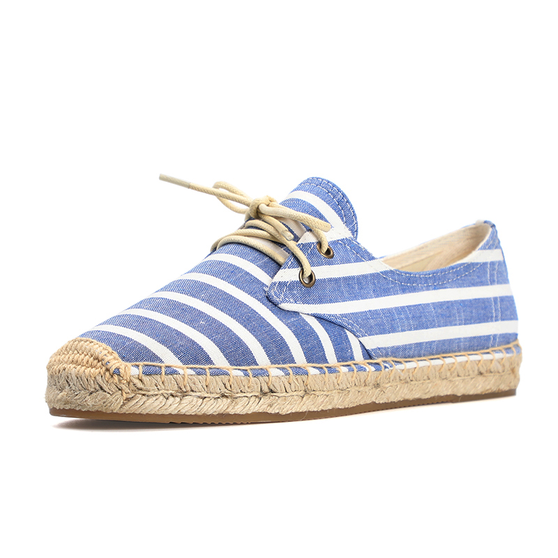 2019 women flat espadrill sneaker breathable striped fabric non slip outsole in Women 39 s Flats from Shoes
