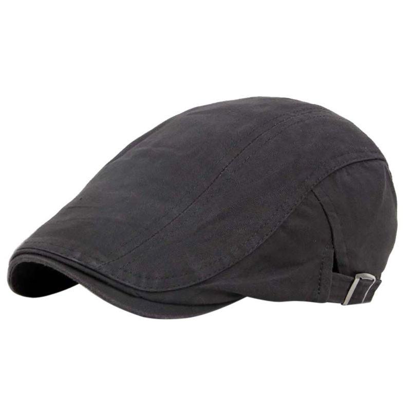 662e8979672 Men Solid Cotton Sports Hiking Caps Hat Golf Driving Summer Sun Flat  Forward Berets Cap