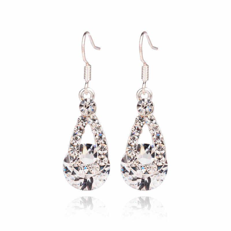 גדול קריסטל תליון אופנה ארוך סעיף טיפה מבריקים Earrings10.29