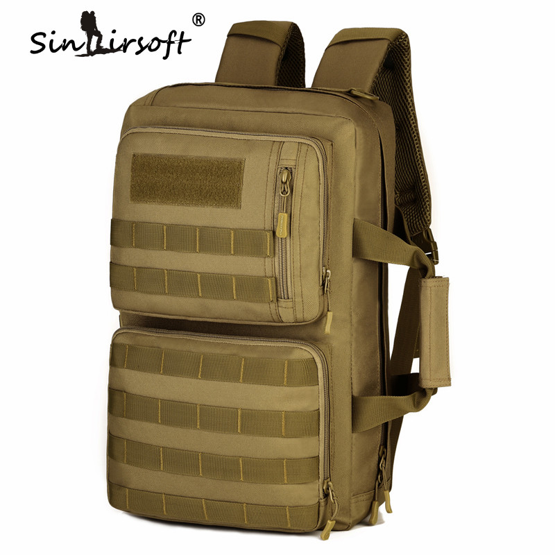 SINAIRSOFT Outdoor 35L Sport Climbing Camping Shoulder Bag 3 Usages Trekking Molle Travel Military Tactical Backpack sinairsoft military tactical backpack 35l rucksack 14 inches laptop fishing molle system backpack trekking bag gear ly0020