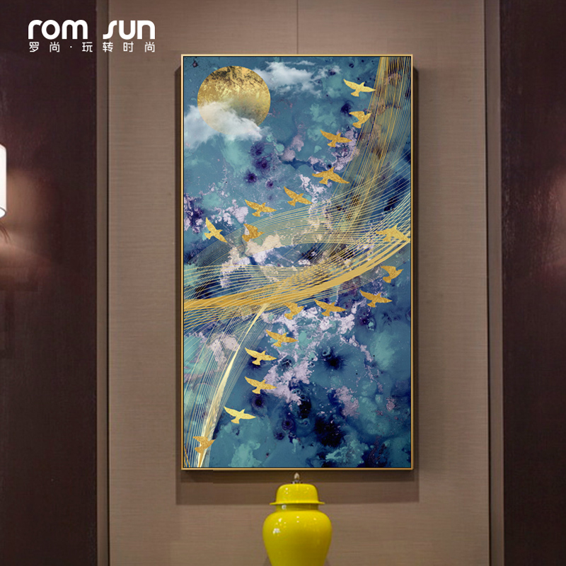 Abstract Music Bird In Sky Canvas Painting Meaningful Wall Art Pictures For Living Room Home Decor Heaven Posters And Prints HD(China)