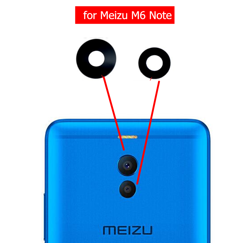Glass-Lens Camera Note Meizu M6 Replacement Back Repair-Spare-Parts for Rear with Glue