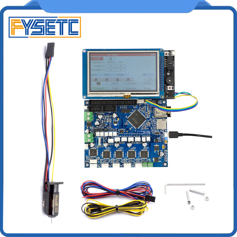 1Set 3D Printer z-probe TOUCH ON Cloned DuetWifi Advanced 32 Bit Electronics With 4.3 5 7 PanelDue Colour Touch Screen louis erard часы louis erard 50232 aa02 коллекция excellence