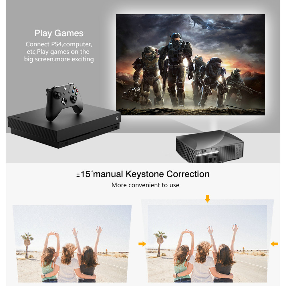 Vivicine Original F30 Full HD Home Theater 1080P Projector,Portable 1920x1080 HDMI USB PC Video Game Proyector Beamer