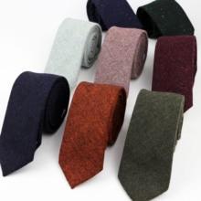 New Style Wool Viscose Tie 7cm Ties Fluffy Solid Color Corbata Slim Striped Necktie Cravat Clothing Accessories Warm Dot Ties