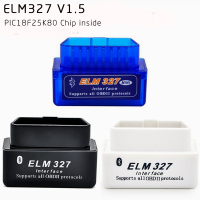 2018 New Auto Scanner PIC18F25K80 Chip Hardware V1 5 Super Mini Bluetooth ELM327 V1 5 OBD2