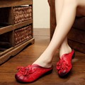 2017 летний новый ручной работы корова кожа hollow женщины тапочки на низком каблуке цветы ретро натуральная кожа сандалии szie 35-40
