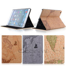 High quality World Map leather case for Apple iPad Air with stand function wallet cover for iPad Air tablet bag case sleeves