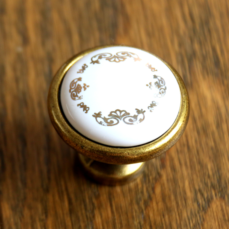 32mm Dresser Knob handles Ceramic Kitchen Cabinet Knobs Bronze Base Drawer Knob Pull Door Knob Pull Handle Furniture Hardware dresser knob drawer pull knobs gold kitchen cabinet knobs door handle pull furniture hardware 64 96 128 mm