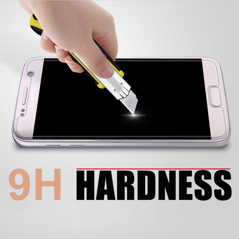 Image 5 - 10PCS Tempered Glass For Samsung Galaxy A3 A5 A6 A7 A8 2016 2017 2018 Screen Protector 0.28mm 9H Protective Film Case Glass-in Phone Screen Protectors from Cellphones & Telecommunications