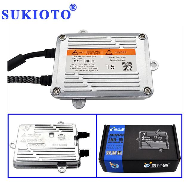 SUKIOTO Electronic ballast T5 DLT HID Ballast 55W xenon ballast xenon H7 H11 bixenon H4 ballast control Unit ignition Blocks