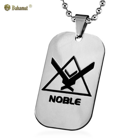 Bahamut Game Jewelry Halo UNSC Noble Dog Tag Necklace Pendant Titanium Steel Chain