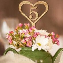 Хит, 1-30 цифр, сердце, деревянный стол, вывески, свадьба, дерево, номер стола, Топпер, свадебный стол, знак, цветы, сиденья, вечерние, Декор