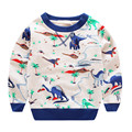 For Boys T-Shirt Sweater Dinosaur Print Long Sleeve T Shirts Child Ruffle Raglan Top Kids Clothes Sweatshirt New Years Spring