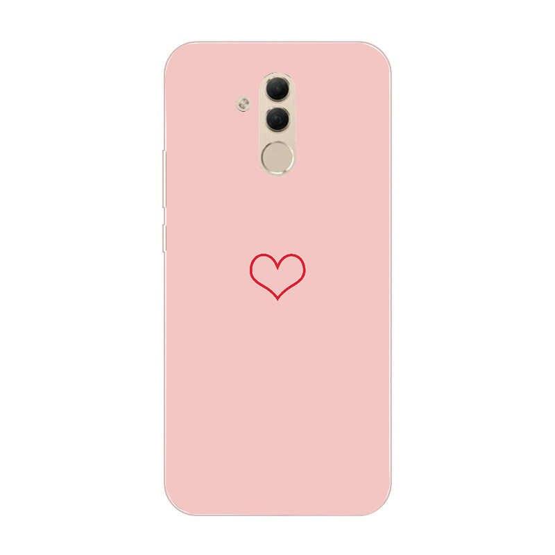لينة سيليكون حافظة لهاتف Huawei زميله 20 لايت حالات 6.3 بوصة الوردي السيليكون حالة ل على هواوي زميله 20 10 P20 لايت برو الفاخرة يغطي