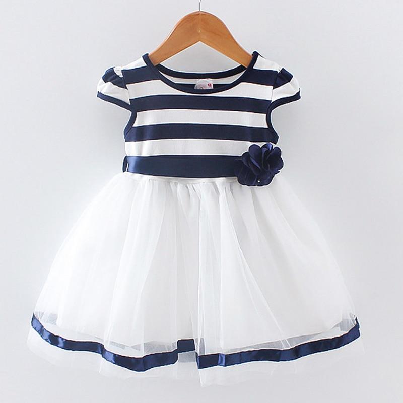 BibiCola Newborn Girl Summer Dress 2018 New Brand Princess child Girls Dresses Sleeveless infant Cotton Striped Clothing женское платье brand new dilameng 6382 summer dresses