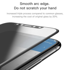 Image 5 - HOCO 3D Privacy Tempered Glass for iPhone X XR 11 Pro Max XS Max Xs Screen Protector Full Cover 0.25mm Protective Glass 5.8 6.5