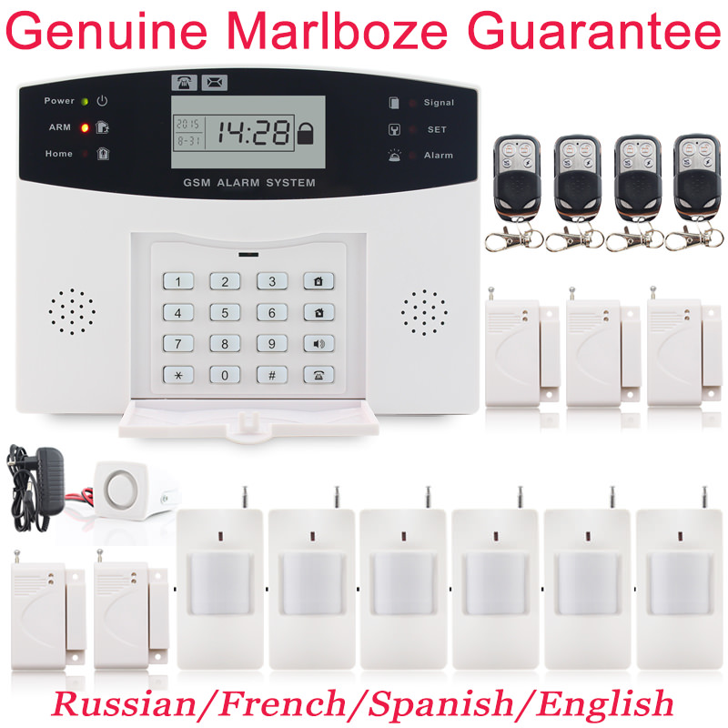 Metal Remote Control Voice Prompt Wireless door sensor Home font b Security b font GSM Alarm