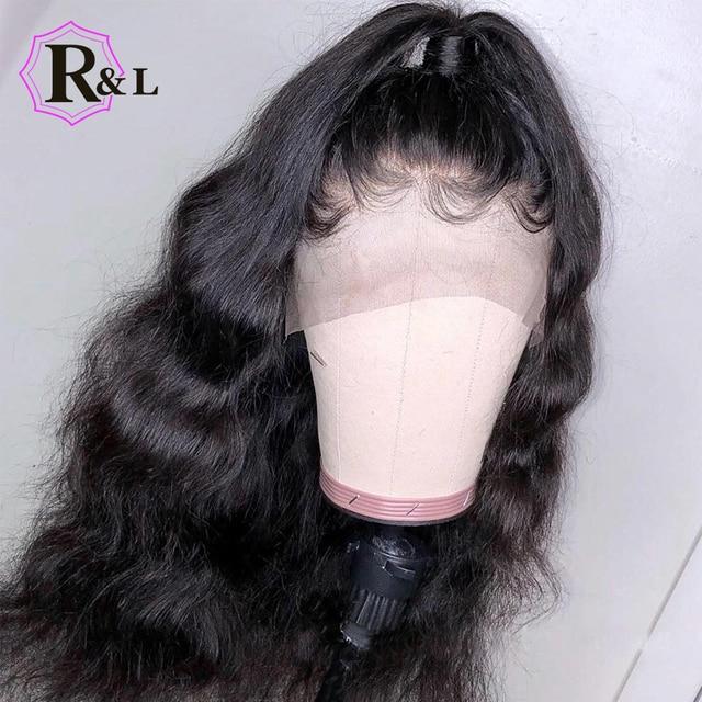 RULINDA de la onda del cuerpo del pelo humano del frente del cordón pelucas para mujeres con el pelo del bebé del pelo Remy brasileño pelucas de encaje Pre- arrancado de la parte libre