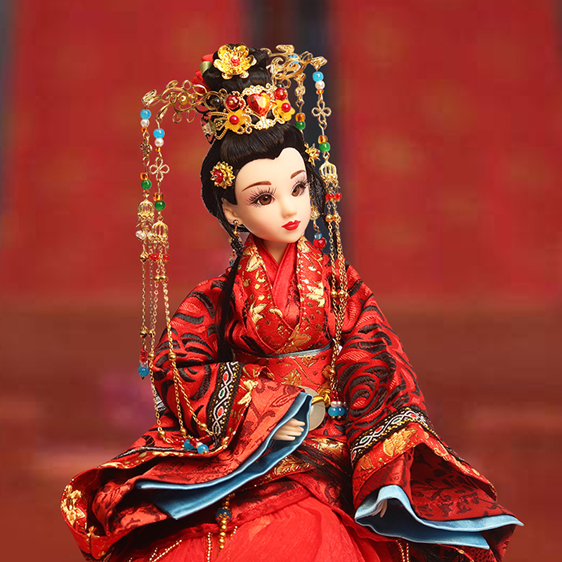 14 Collectible Chinese Ancient Costume Dolls Vintage Han Dynasty Bride Dolls Oriental BJD Doll Girl Toys Wedding Gifts 35cm handmade chinese dolls collectible ancient costume spring girl dolls with stand vintage season series bjd doll toys