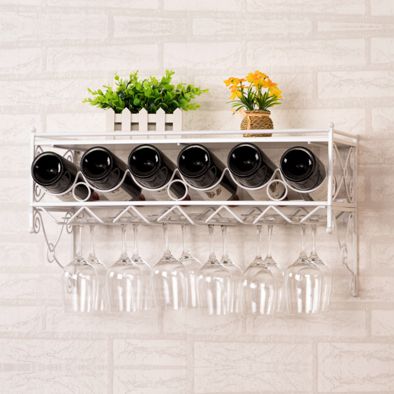 Wine rack hanging wine cup rack hanging upside dow...