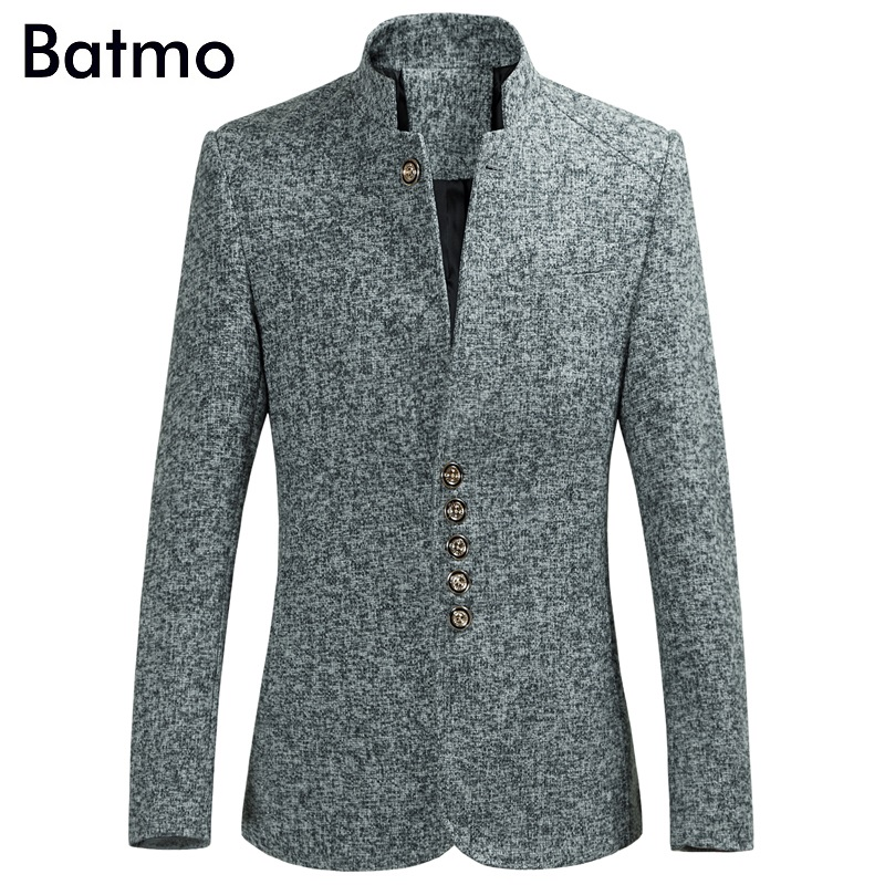Batmo 2018 New Arrival High Quality Single Breasted Casual Blazers Men, Gray Blazers ,suits Jackets Men 9801