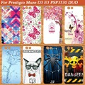 New Fashion Soft TPU Silicone Protective Phone Cover DIY Case For Prestigio Muze D3 PSP3530 DUO 3530 Duo Phone Back Covers