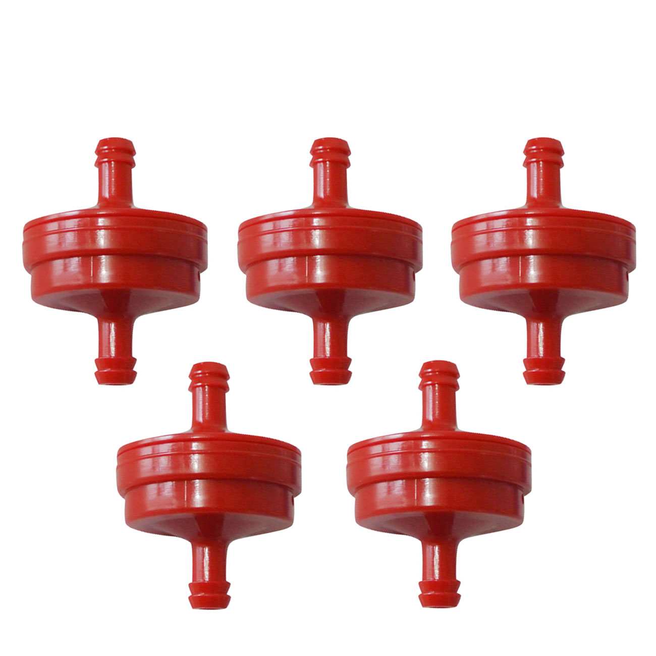5xGenuine Inline Fuel Filter Red Fits Briggs & Stratton 298090 395018 Lawn Mower