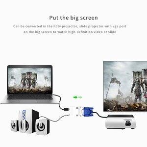 Image 5 - Convertidor de HDMI a VGA de 1080P con Adaptador de Audio adaptador de transmisión de Audio de HDMI VGA de señal hembra a macho para proyector HDTV