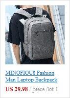 Minofious moda masculina computador portátil mochila mochilas