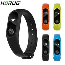 HORUG חכם צמיד להקת Smartband כושר Tracker צמיד חכם צמיד לחץ דם מד צעדים ספורט קצב לב צג
