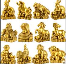 SUIRONG---2017 804+++The copper pin twelve zodiac rat ox tiger rabbit dragon snake horse sheep monkey chicken dog pig handicraft(China)