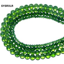цены Wholesale Natural Stone Crystal Green Peridot Loose Beads For Jewelry Making Fit Charm Diy Bracelet Necklace 4 6 8 10 12 MM