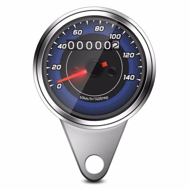7787a804b98 1pc Universal Motorcycle Odometer Motorbike Speedometer Gauge K MH Speedo  Meter Odometer Speed Meter Gauge