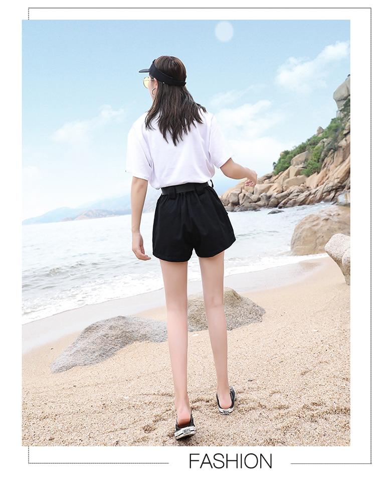 3XL Plus Size Women Summer Shorts With Belt 2019 Fashion Casual Streetwear Cargo Shorts Feminino BF Style Army Green Short Femme 35