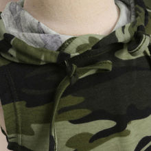 Mother and Daughter Matching Camouflage Hooded Dresses