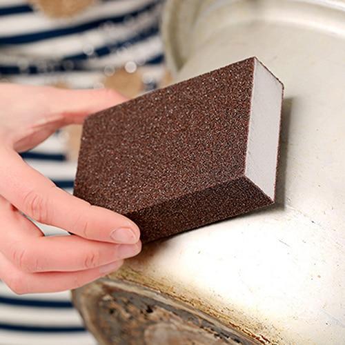 Kitchen Nano Emery Magic Clean Rub Pot Rust Focal Stains Sponge Removing Tool 9OD2