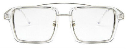 24 1 Retro Clear Square Ladies Glasses