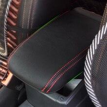 цена на Car Center Control Armrest Box Microfiber Leather Trim Cover For VW Golf 7 MK7 2014 2015 2016