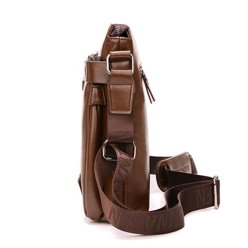 bf00cdce27 LEINASEN marque mode PU cuir hommes Messenger sacs portefeuille bureau  hommes sac, qualité voyage sac à bandoulière sac à main pour homme dans  Bandoulière ...