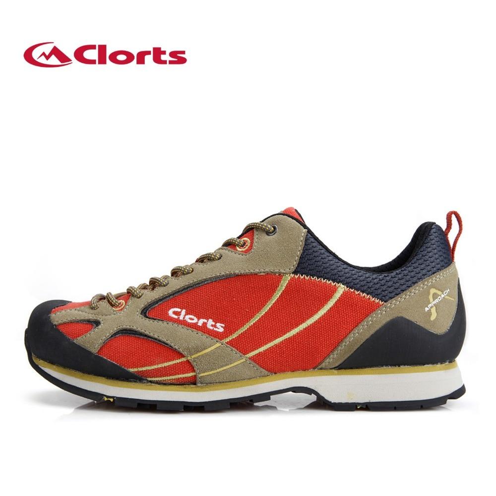 2016 Clorts Men Climbing Shoes 3E003A/B Outdoor Cow Suede Waterproof Hiking Shoes EVA Sport Sneakers for Men