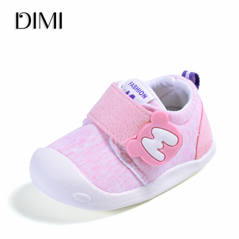DIMI 2019 New Kids Baby Shoes Breathable Boy Girl Newborn Toddler Shoes Soft Baby Sneakers Boys Infant Shoes First Walkers