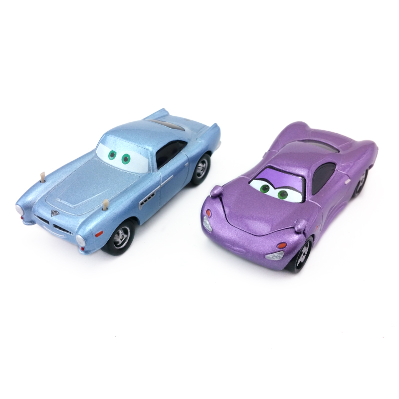 Disney Pixar Cars 2 Finn McMissile & Holly Shiftwell Metal Diecast Toy Car 1:55 Loose Brand New In Stock &
