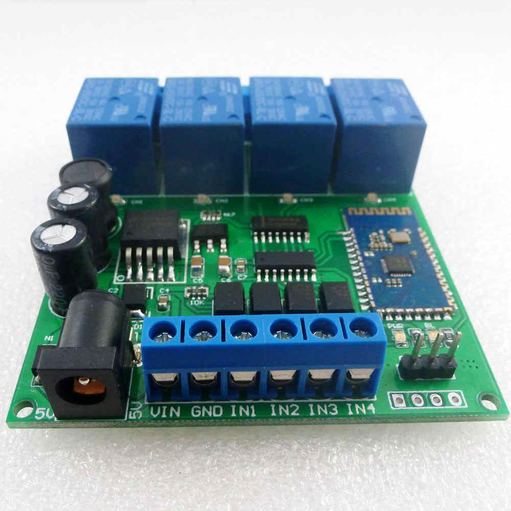 4Ch Bluetooth Android Mobile Remote Control Relay Module 5-24V BSG