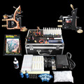 lowest price high quality  Tattoo Kits  Guns Machines  Ink Sets Power Supply Needle Pedal Tips to be beauty send tattoo sticker