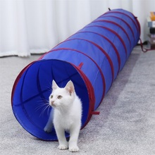 Cat Dog Tunnel Premium S-Shaped Tunnels Collapsible Play Toy Interactive Tube with Pompon and Bells for Puppy