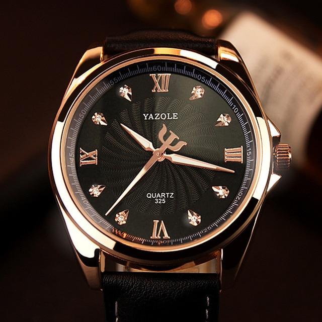 28dd524f30c YAZOLE 2018 Homens Relógio de Quartzo Diamante Mens Relógios Top Marca de  Luxo Famosos Relógios De
