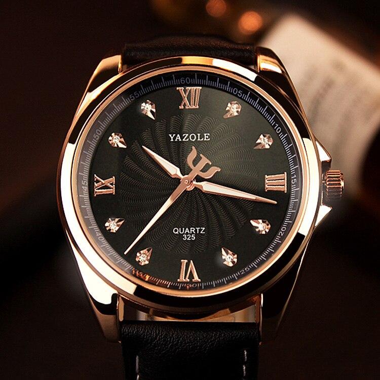 YAZOLE 2018 Quartz Montre Hommes Diamant Mens Montres Haut Marque De Luxe Célèbre Montres Pour Homme Horloge Hodinky Relogio Masculino